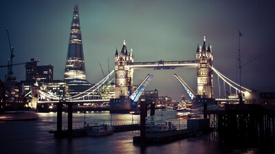 London Bridge in UK at Night View Photo