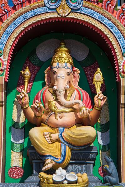 Lord Ganesha in Temple Ultra HD