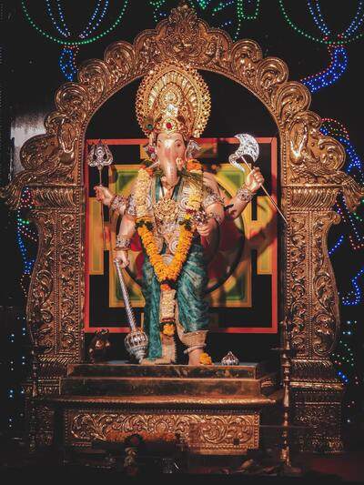Lord Ganesha Multi Handed Idol Ultra HD