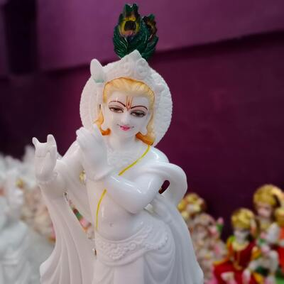Lord Krishna White Idol