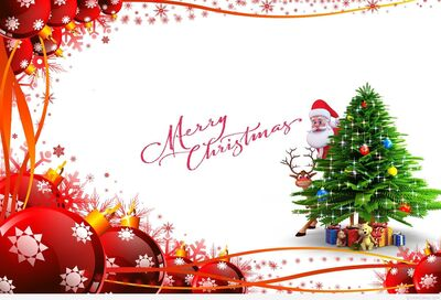 Merry Christmas Decorative Wallpaper
