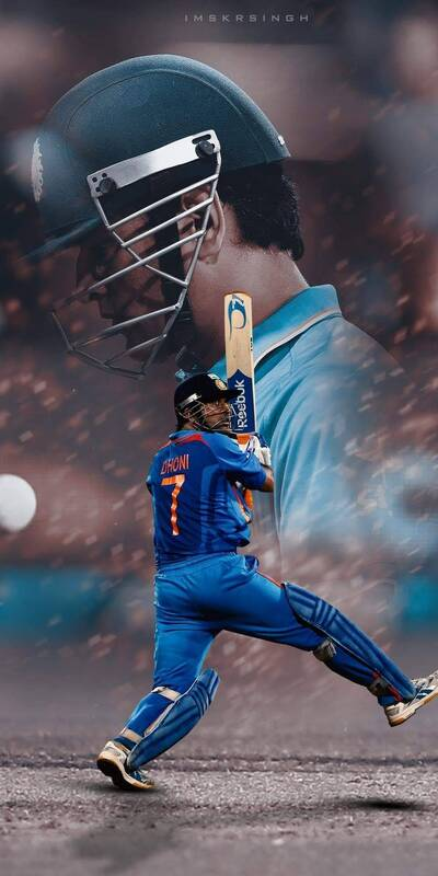 MS Dhoni Indian Cricketer Mobile Background Photo