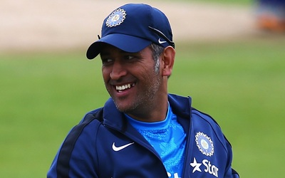 MS Dhoni Smiling Face Wallpaper