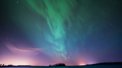 Northern Lights Astotin Lake Canada Aurora Night