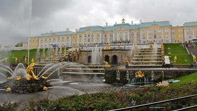 Peterhof Tourist Palace in Russia