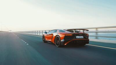 Photo of Lamborghini Car on Expressway