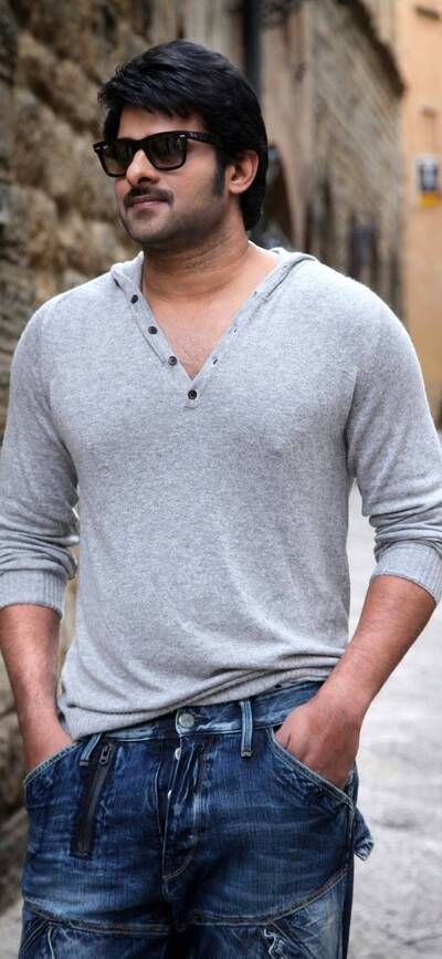Prabhas in Jeans and Tshirt