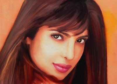 Priyanka Chopra Paining Photo