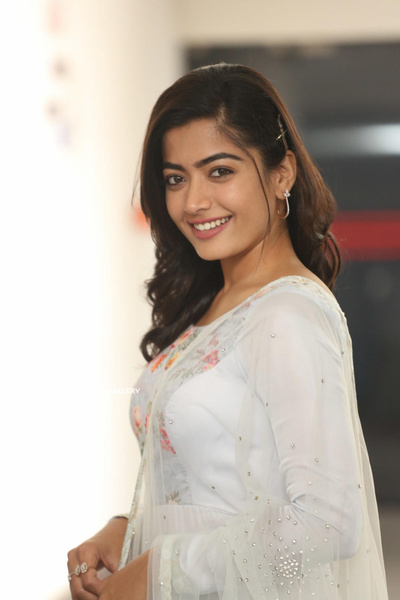 Rashmika Mandanna in White Dress