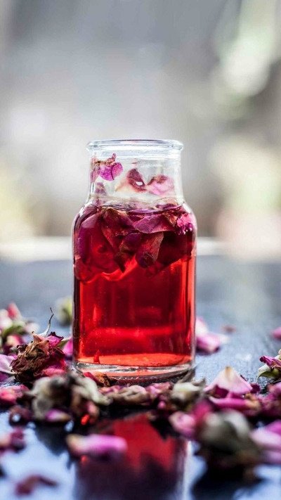 Rose Water in Bottle