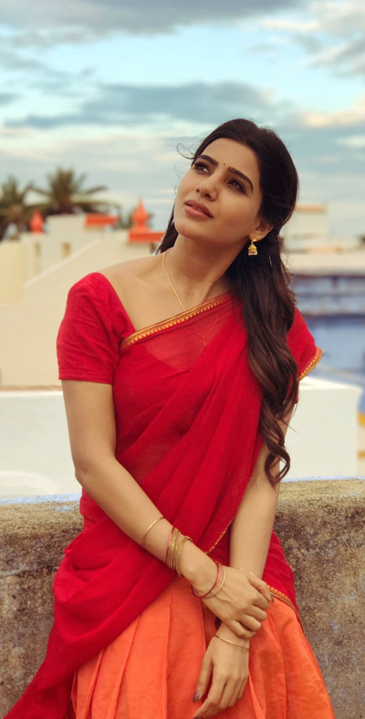 Samantha Indian Actress in Half Saree Photo
