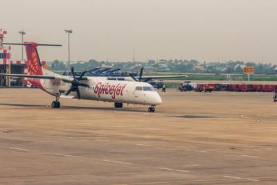 Spicejet Plane Wallpaper