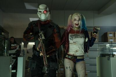 Suicide Squad Margot Robbie as Harley Quinn and Deadshot as Will Smith