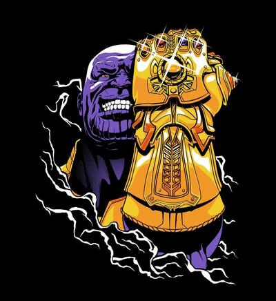 Supervillain Thanos And Infinity Gauntlet