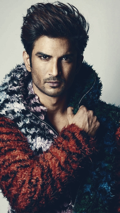 Sushant in Feather Jacket