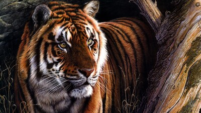 Tiger Oil Painting 4K