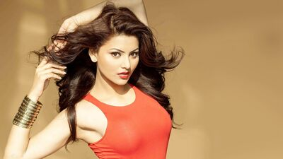 Urvashi Rautela in Orange Cloth