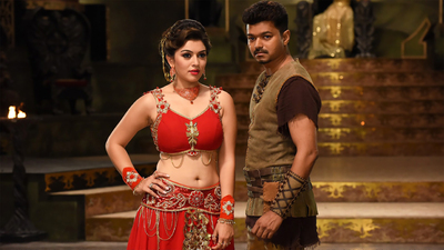 Vijay And Hansika in Puli Movie Song