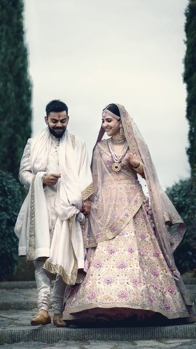 Virat and Anushka Wedding Wallpaper