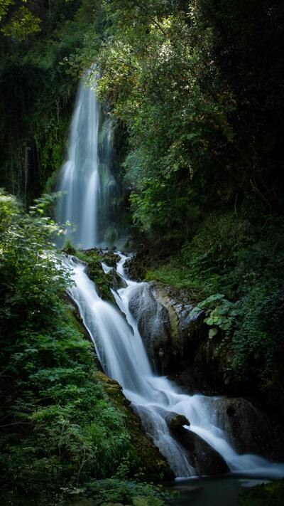 Waterfall Green Nature Pic