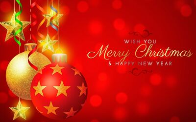 Wish You Merry Christmas and Happy New Year Wallpaper Background