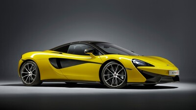 Yellow McLaren 570S Spider